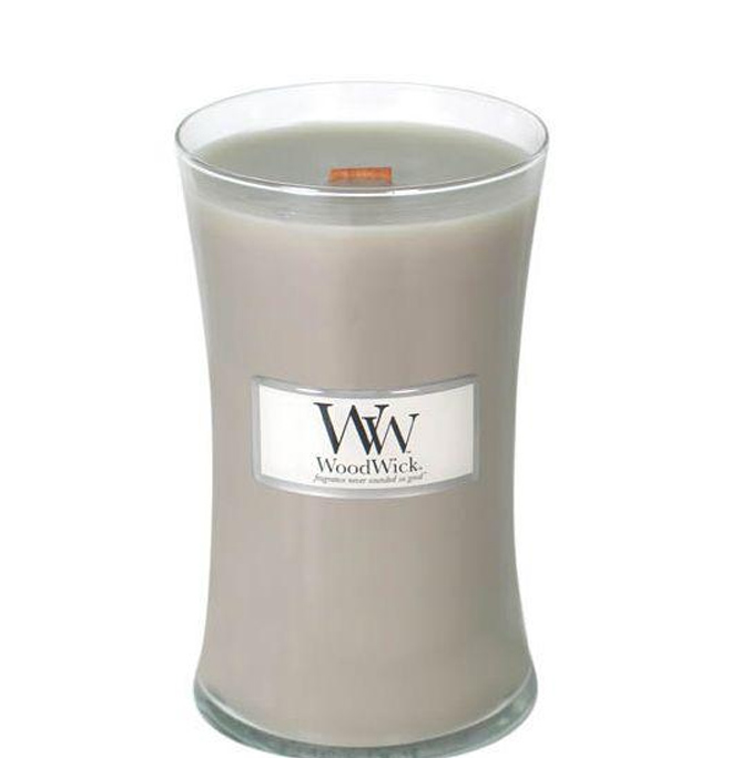 LINEN WOODWICK CANDLE