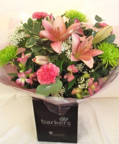 PINK AND LIME HAND TIED