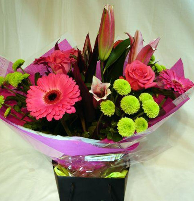 classic hot pink hand tied