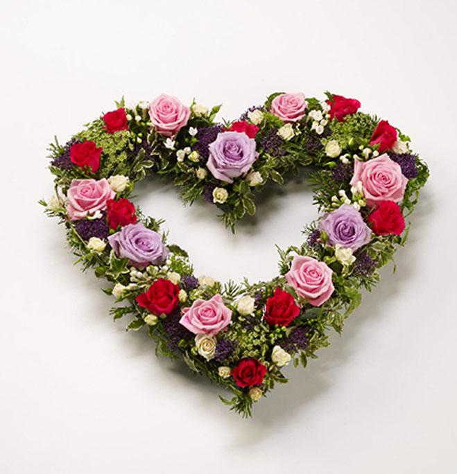 country garden heart