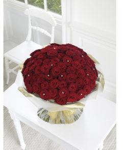 100 red rose