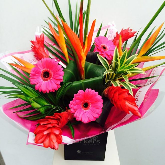 Hot Pink Exotic Hand Tied 1