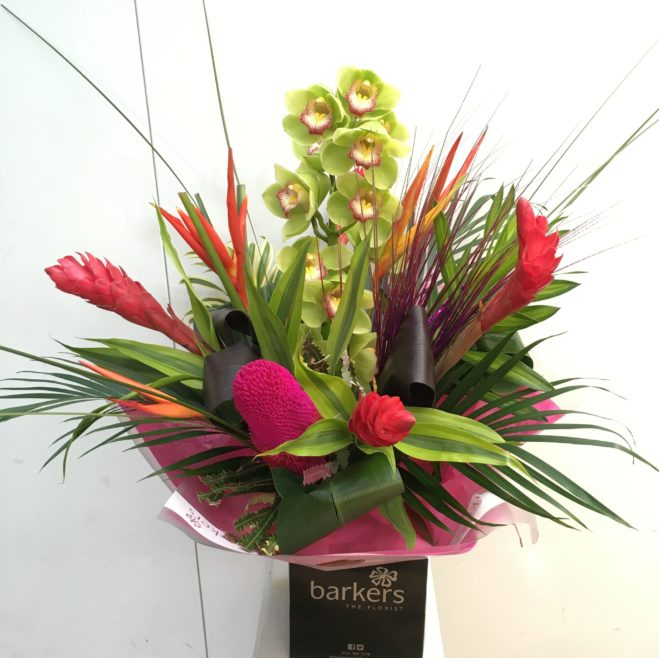 Luxury Tropical Flower Hand tied   £70.00