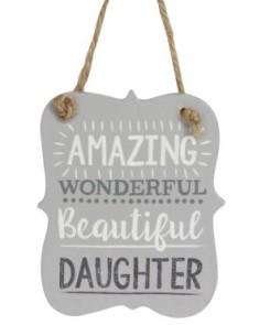 40565 Beautiful Daughter Wood Plaque