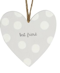 40571 Best Friend Wood Heart