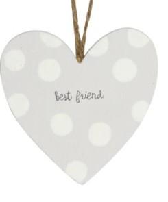 40571 Best Friend Wood Heart