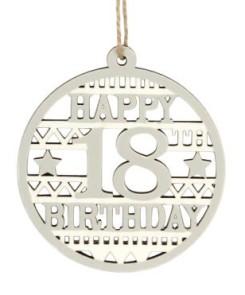 40573 Happy 18th Birthday wood disc