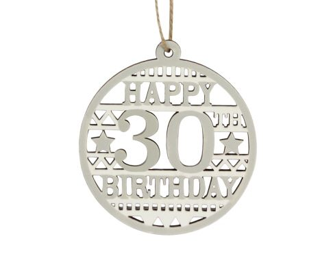 40575 Happy 30th Birthday wood disc
