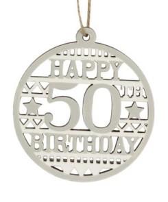 40577 Happy 50th Birthday wood disc