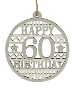 40578 Happy 60th Birthdya wood disc