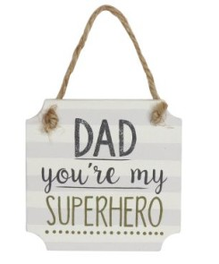40560 Superhero Dad Wood Plaque