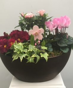 Shades of Pink Boat Planter