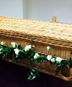 photo of casket - decorated