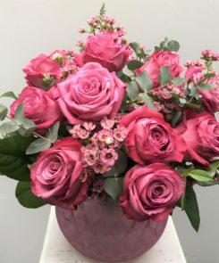 Raspberry Rose Globe