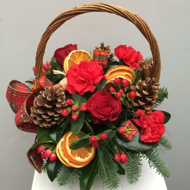 photo of Festive Red Basket